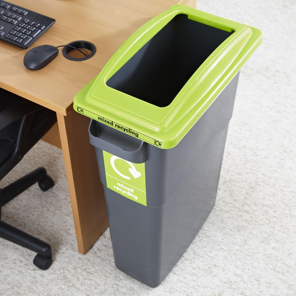 מיכל איסוף פסולת כללית - 70 ליטר מכסה ירוק